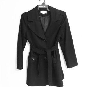 Women's black wool Michael Kors winter coat